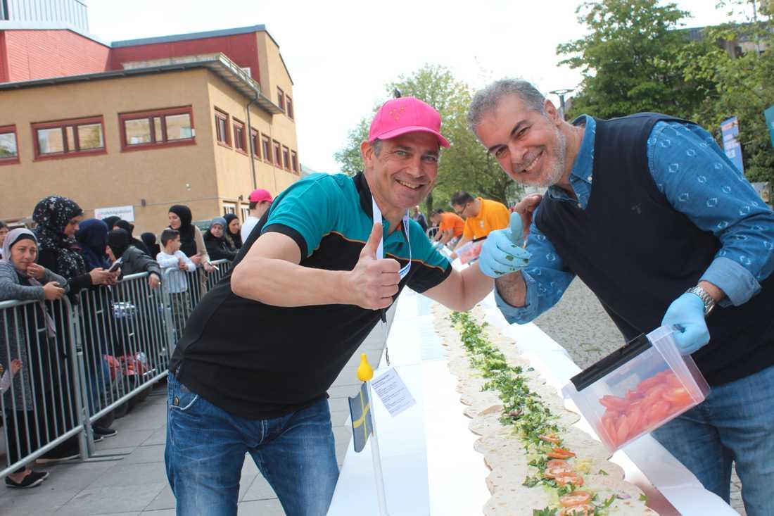 Svante Lahti och Mohamed Elnel.