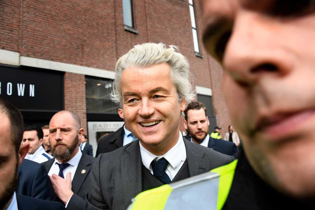 Geert Wilders på valmöte.