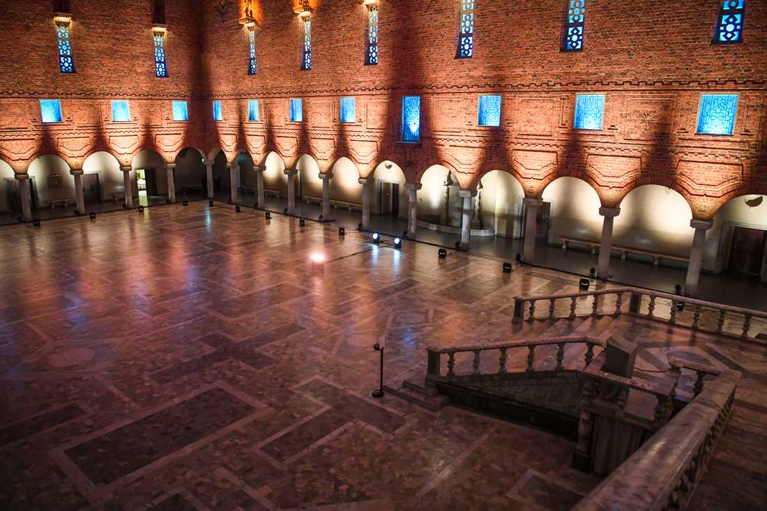 Blå hallen i Stockholms stadshus. Arkivbild.