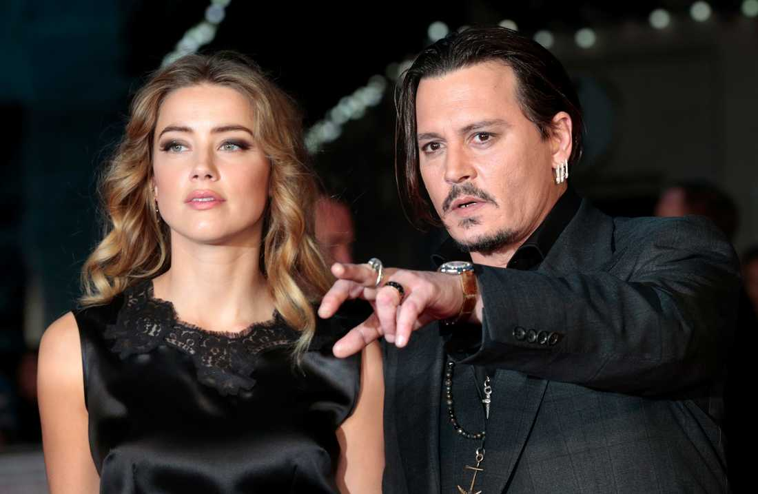 Amber Heard och Johnny Depp.