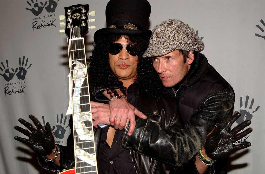 Slash och Scott Weiland.