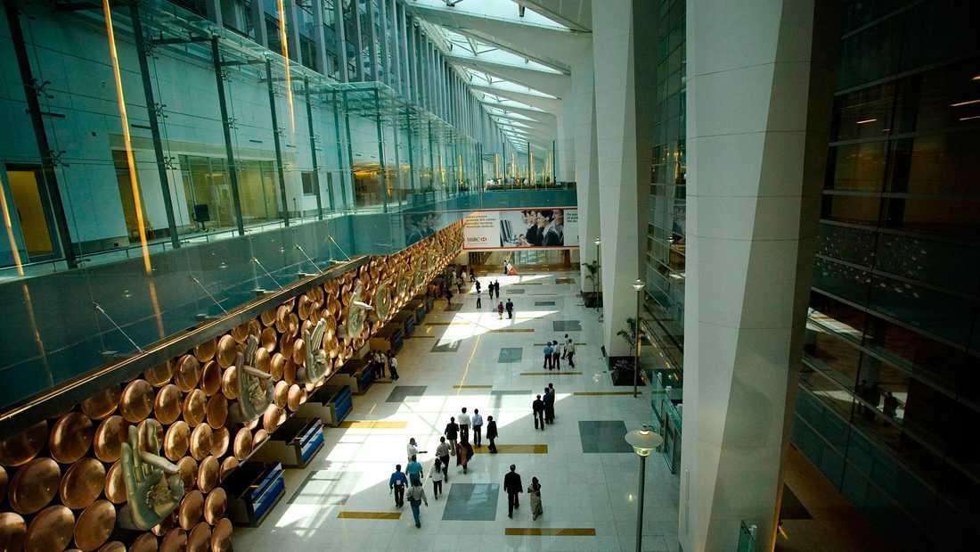 Nya terminal 3 på flygplatsen i New Delhi är Indiens största offentliga byggnad.