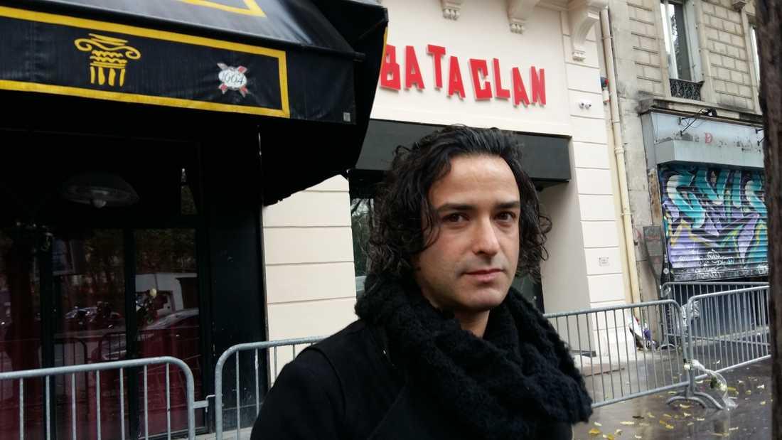Artisten Arno Santamaria kan också komma att spela på Bataclan snart. – Även om konsertlokalen på något vis kommit att bli en grav, är det upp till oss artister att få scénen att leva igen, säger han.