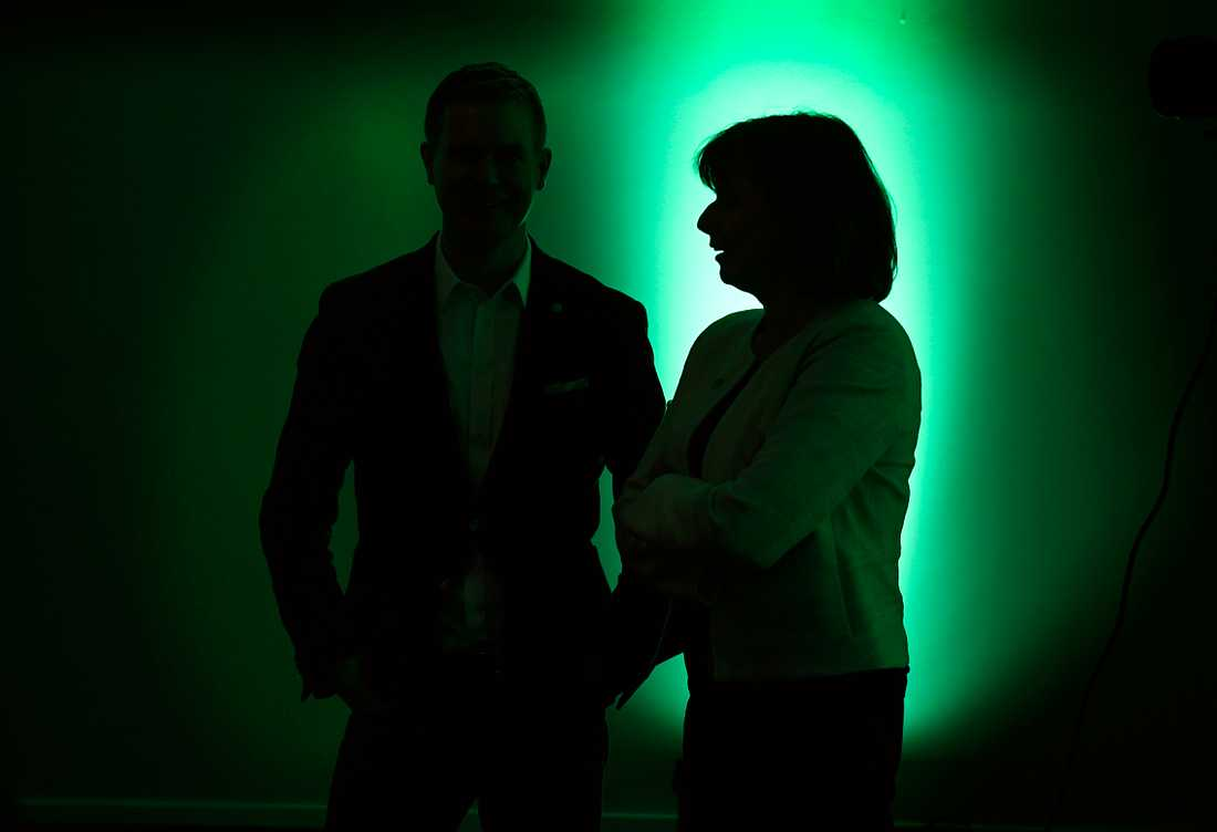 Miljöpartiets kommun- och landstingsdagar i Sundsvall. Språkrören Gustav Fridolin och Isabella Lövin.