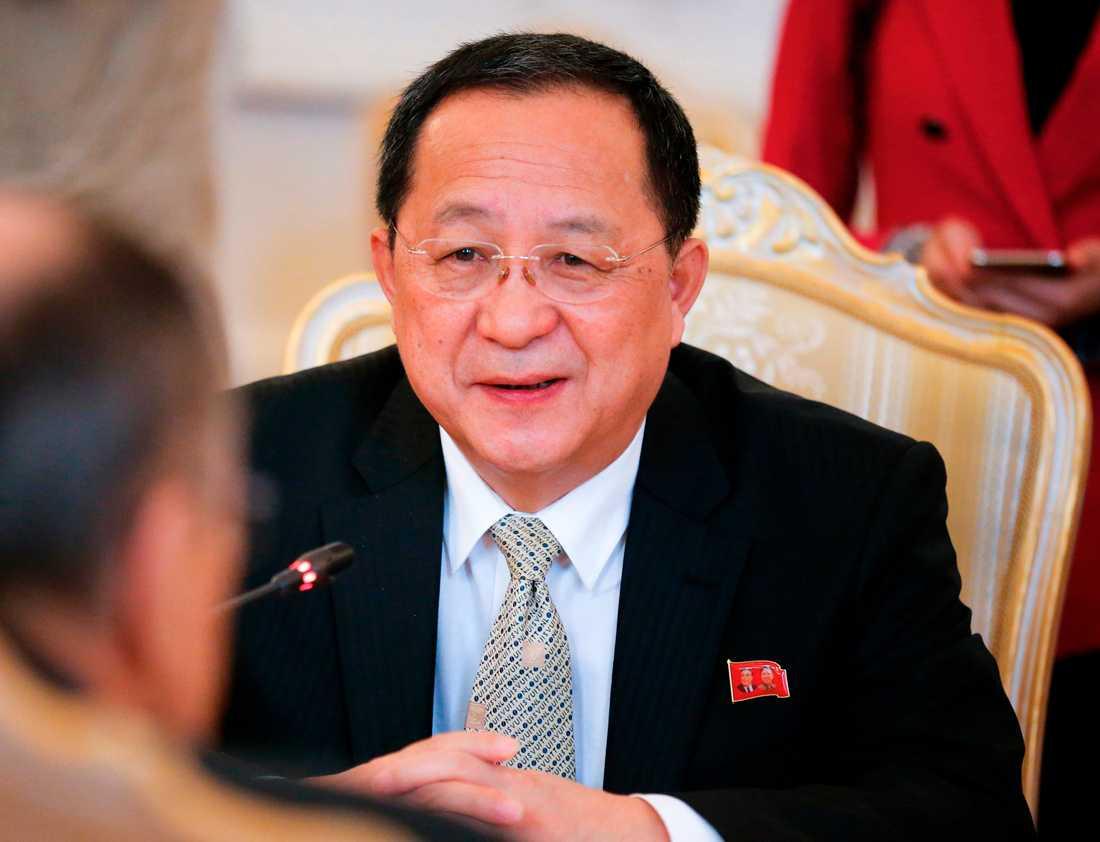Nordkoreas utrikesminister Ri Yong Ho. Arkivbild.