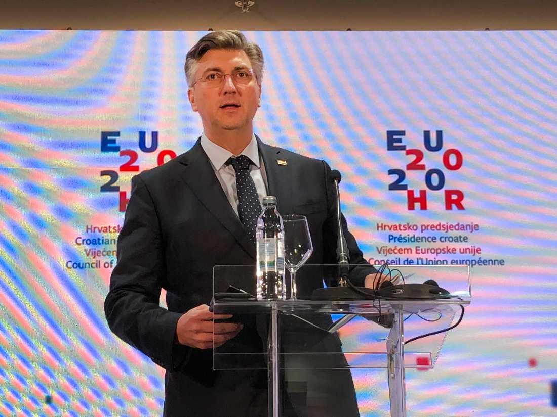 """Kroatiens premiärminister Andrej Plenkovic befarar att det kommer att ta """"månader och år"""" för EU att enas om ansvarsfördelning i flyktingpolitiken. Arkivfoto."""