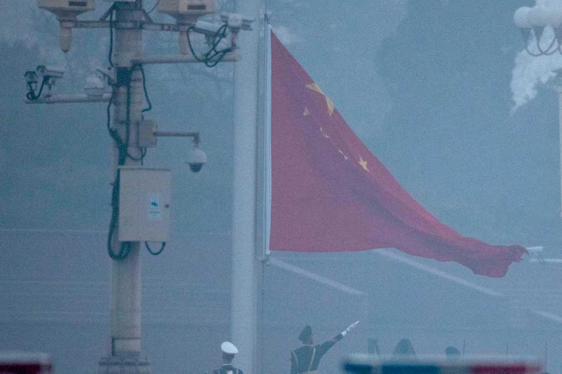 Smog i Kinas huvudstad Peking i början av mars. Arkivbild.