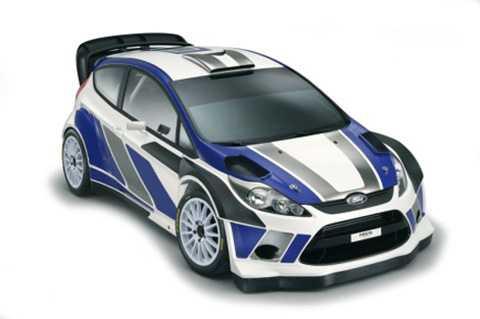 Så här ser den ut Fords VM-bil för 2011. En Ford Fiesta RS.
