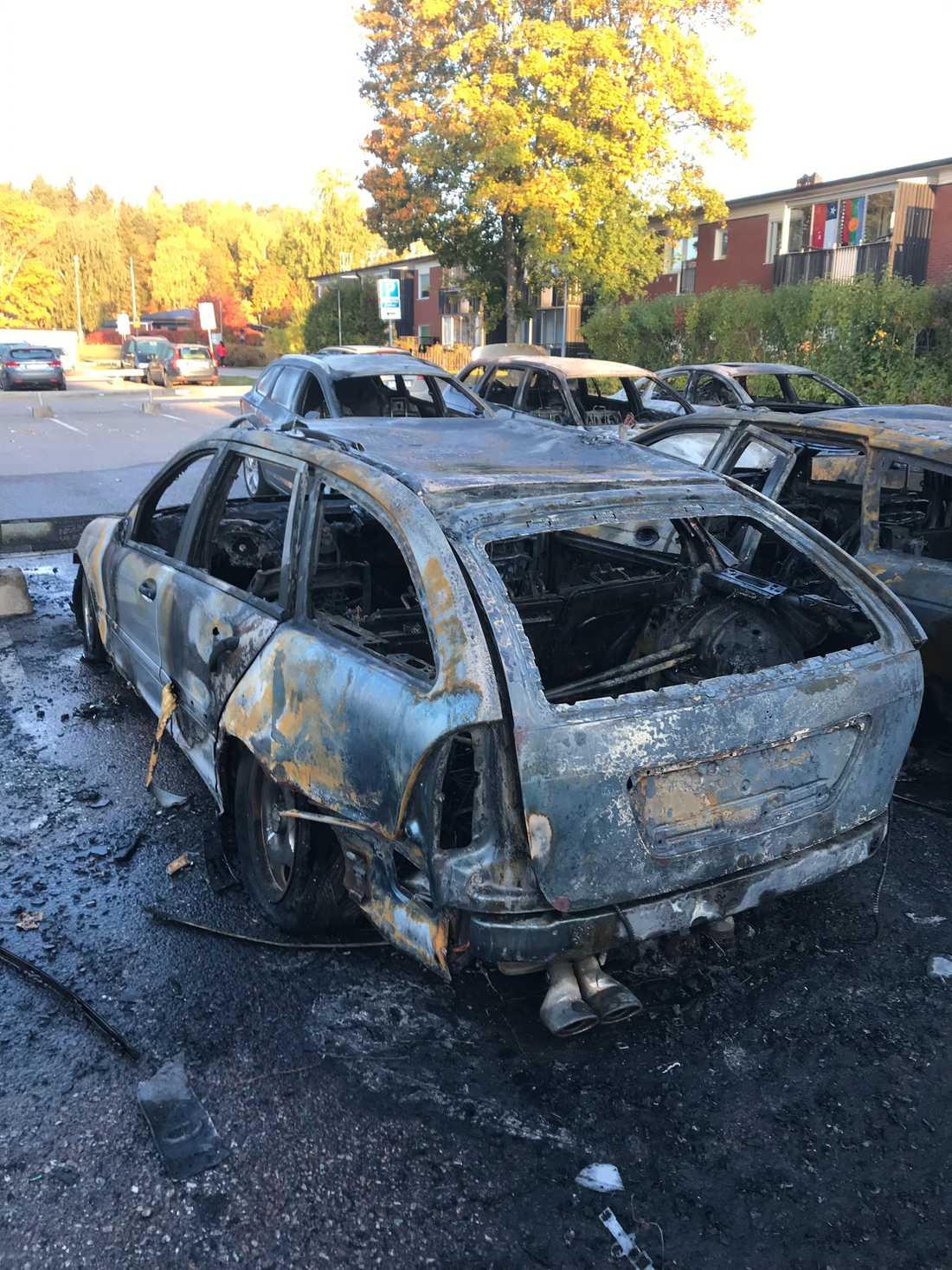 Nicklas utbrända Mercedes.