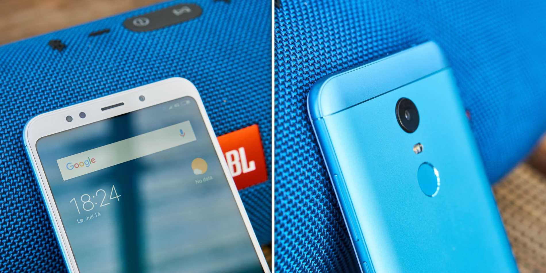 Xiaomi Redmi 5 Plus är utrustad med bra kameror både fram och bak.