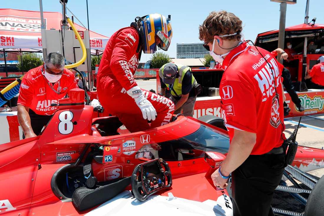 Marcus Ericsson slipar formen inför Indy 500.
