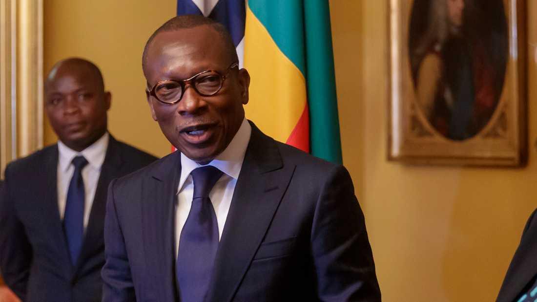 Benins president Patrice Talon vann valet. Arkivbild.