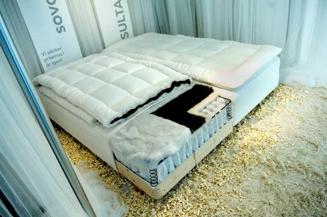 En efterlyst person hittades tidigt på måndagsmorgonen på sängavdelningen på Ikea i Uppsala. Arkivbild.