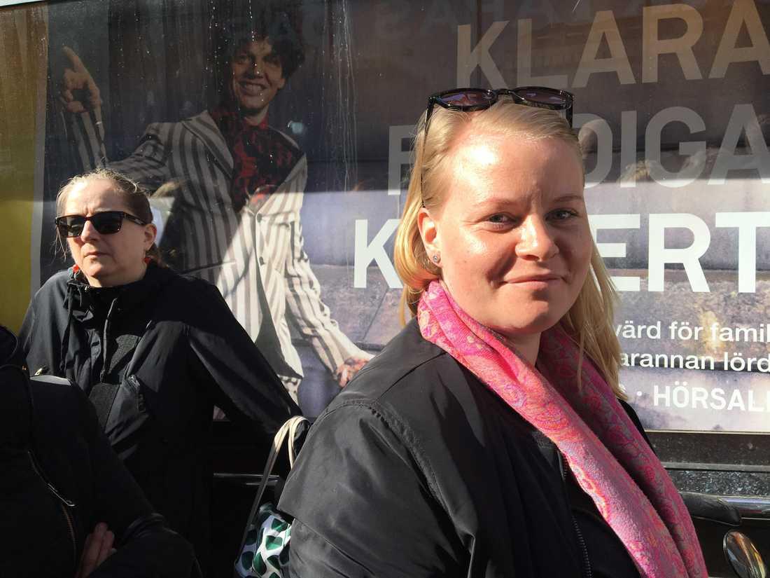 Ellinor Hallerström återvände till Sergels torg.