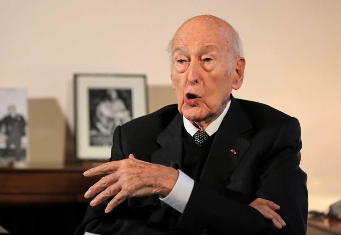 Den franske expresidenten Valéry Giscard d'Estaing på en bild från januari i år.
