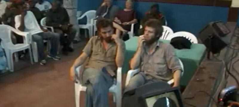 Norrmännen i rättssalen i Kongo.