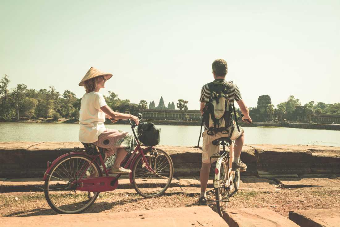 Många som cyklar i området i dag måste dela väg med bilar och motorcyklar.