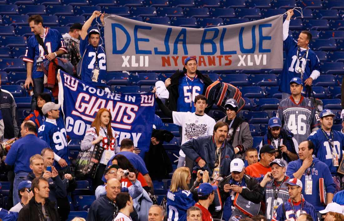 Giants vann över Patriots i Super Bowl även 2008.
