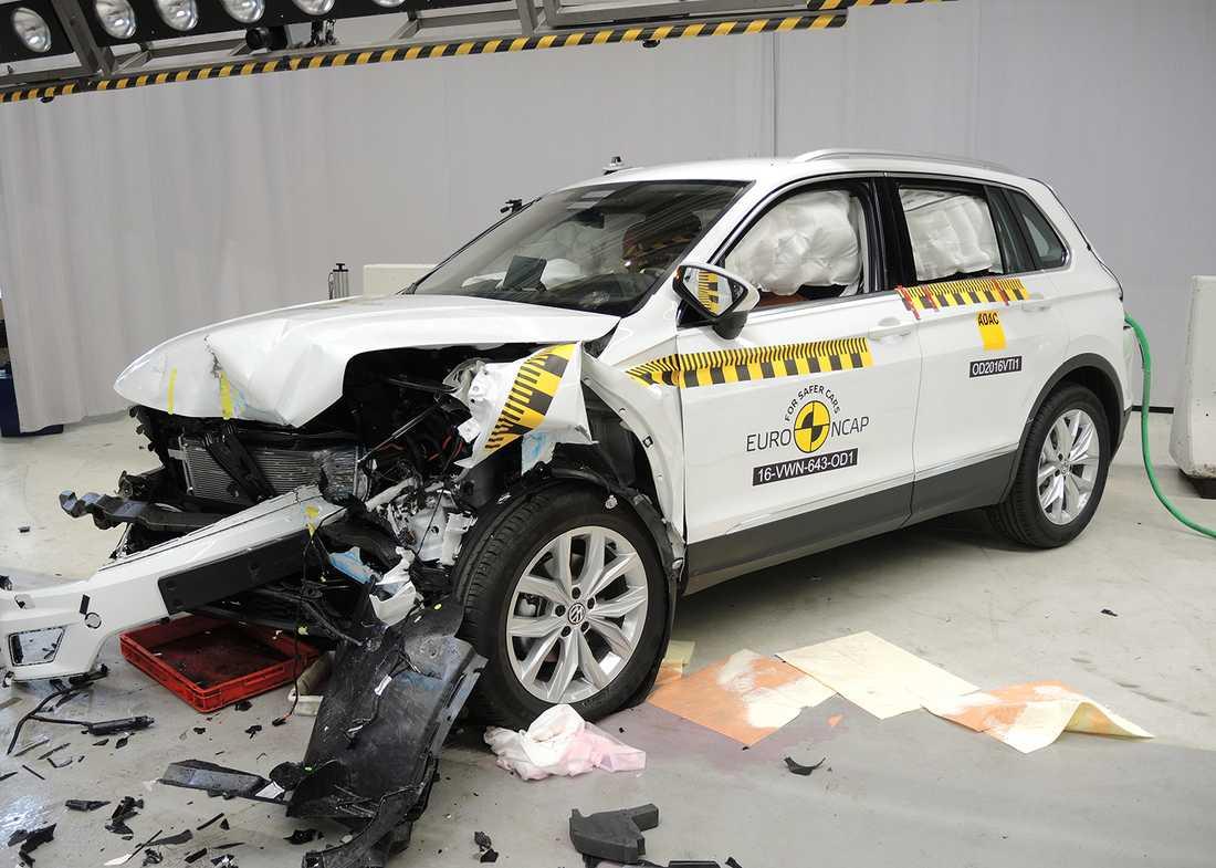 Volkswagen Tigun efter ett krocktest.
