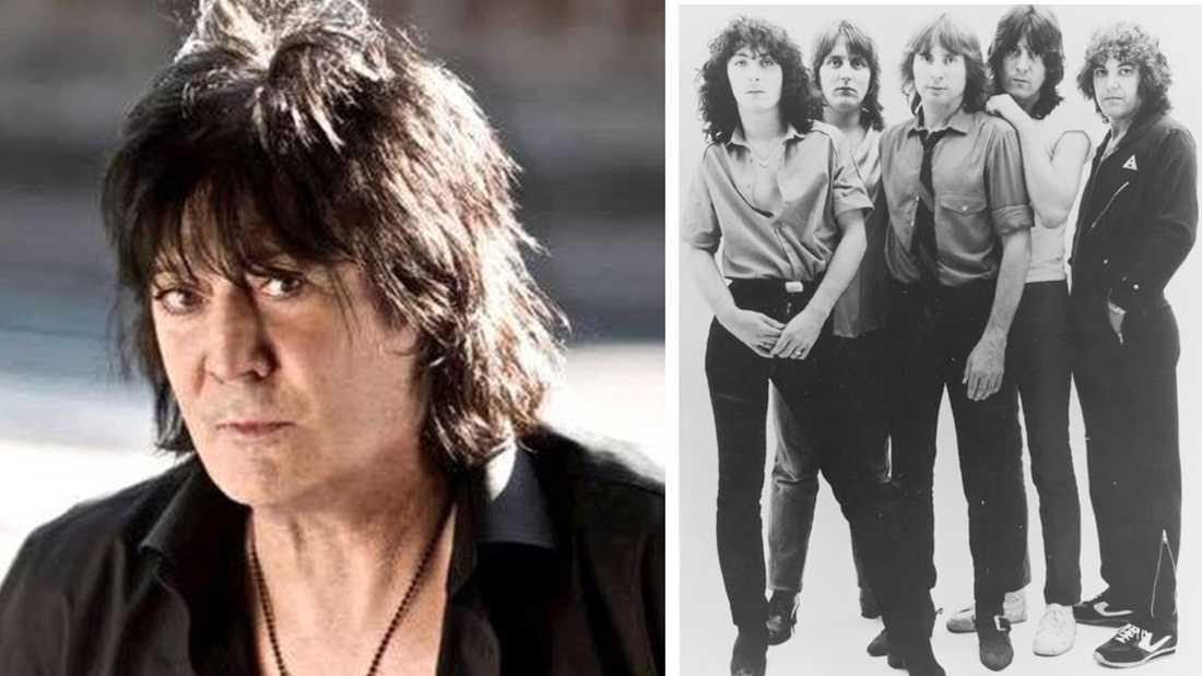 Pete Way var basist i rockbandet UFO (till höger).