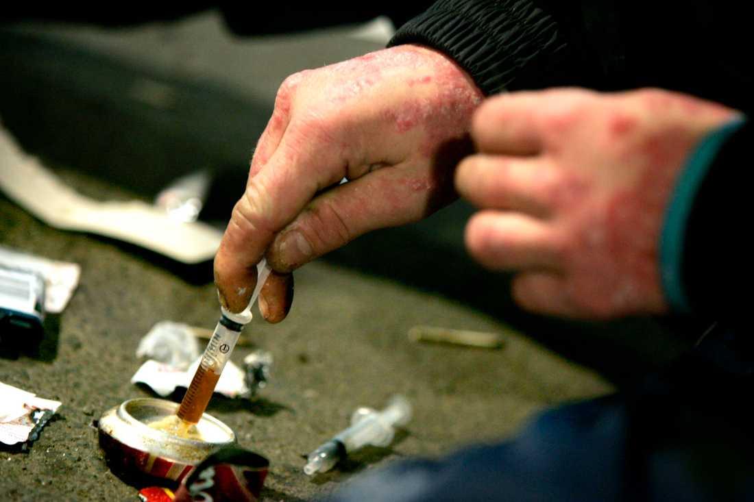 När tillgången på heroin minskar på grund av virusstängda gränser tar missbrukare större risker. Arkivbild.