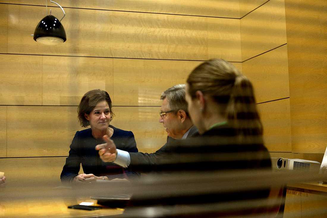 Under dagens resa låg mycket fokus på Nato-frågan. AKB träffade bland annat Pertti Salolainen, Samlingspartiet.