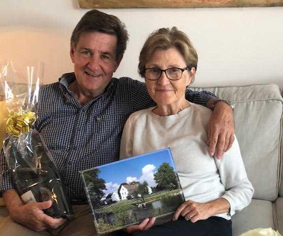 Lars och Ann-Mari Jacobi. Bilden är från deras 70-årsfirande.