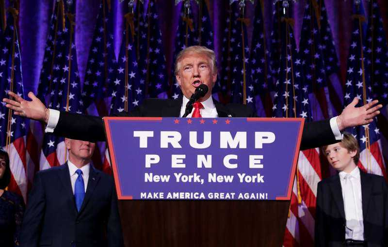 Donald Trump under sitt segertal.