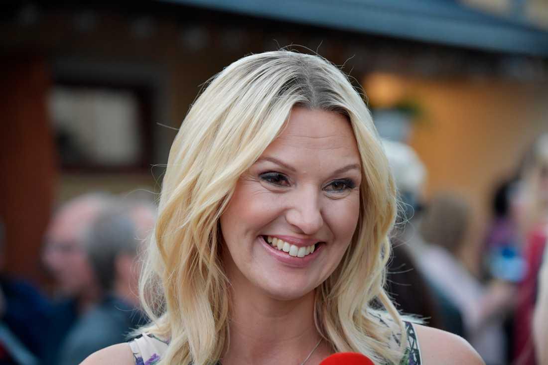 Sanna Nielsen efter premiärprogrammet.