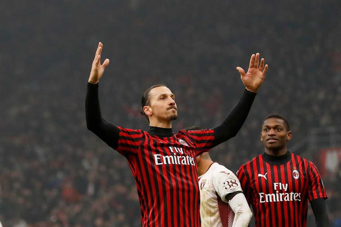 Zlatan Ibrahimovic blev målskytt i cupsegern mot Torino.