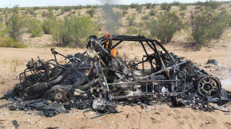 Adam Małysz fick se sin bil brinna upp.