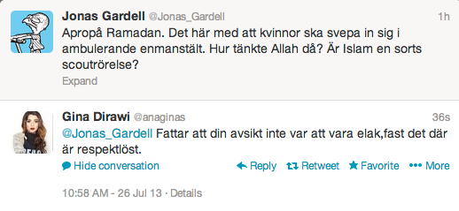 Gardell och Dirawi.