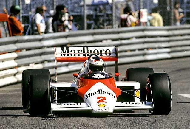 Johansson på Monaco 1987.