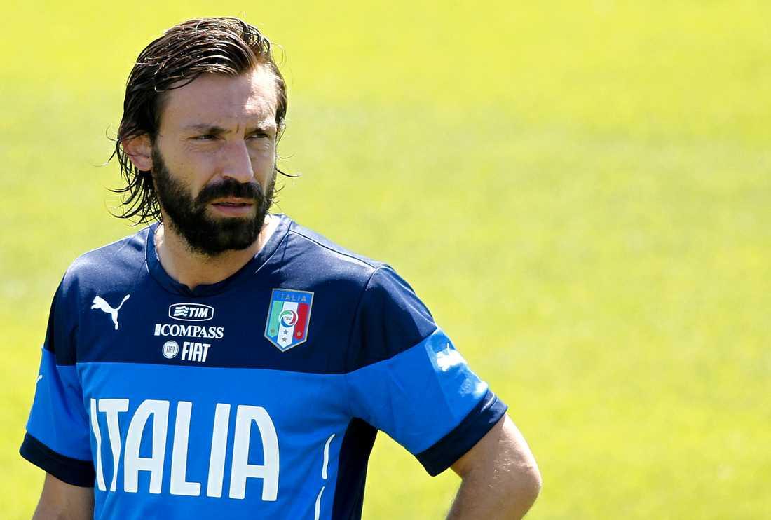 Andrea Pirlo är en stilikon i Italien och dess fotbollslandslag - till viss del för sitt vackra skägg.