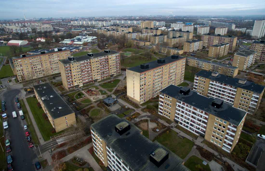 Rosengård och Herrgården, ett av de områden i Malmö som pekats ut som utsatt.
