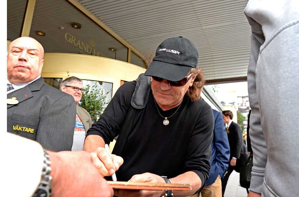 AC/DC:s sångare Brian Johnson.