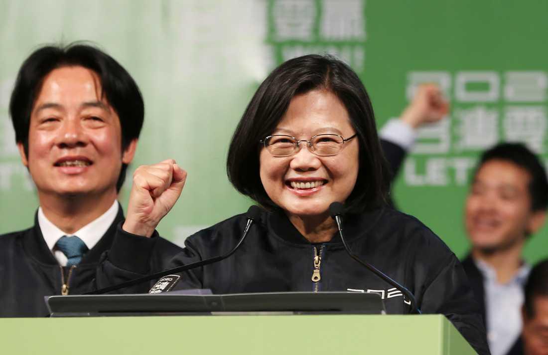 Taiwans sittande president Tsai Ing-Wen vann presidentvalet.
