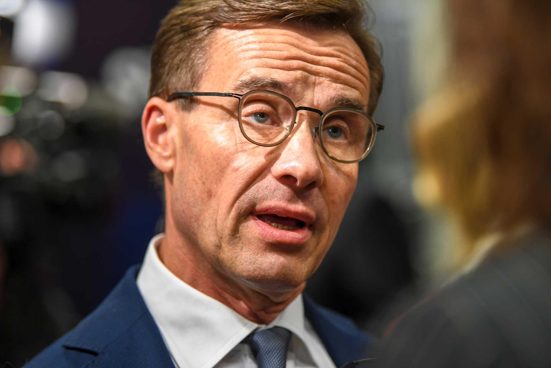 Moderaternas partiledare Ulf Kristersson vill ha snabbare lagändring. Arkivbild.