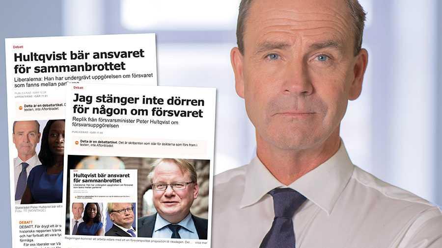Liberalerna står eniga med de övriga borgerliga partierna i försvarsfrågan och tänker inte inledas i separata förhandlingar med regeringen och Peter Hultqvist, skriver Allan Widman.