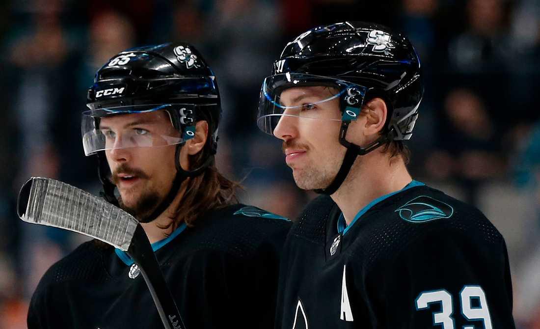 Erik Karlsson och Logan Couture.