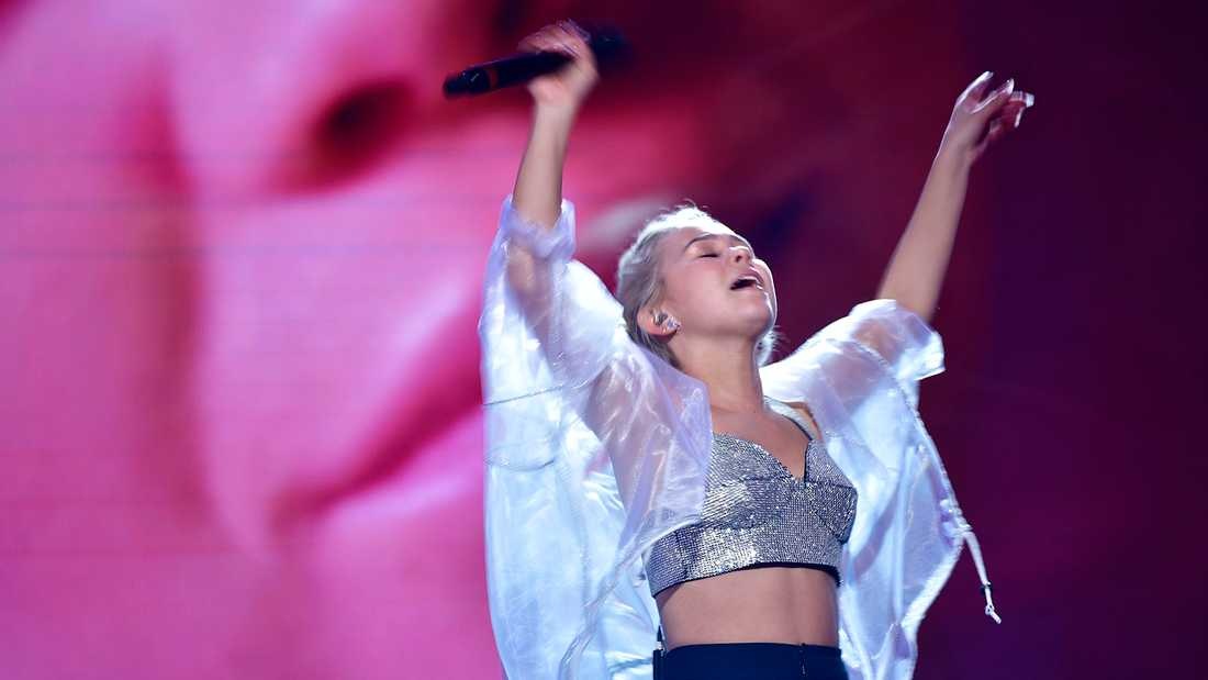 Lisa Ajax i Melodifestivalen 2017.