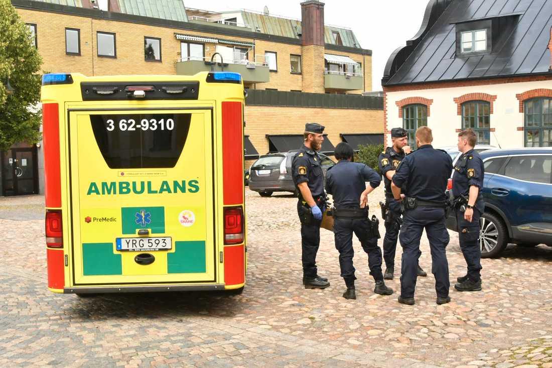 Man attackerades vid värdshus.