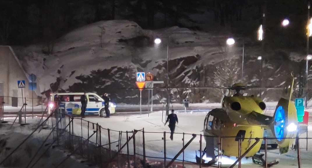 Insats efter skjutningen i Gustavsberg.