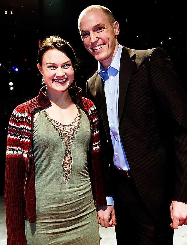 sällsynt  Heidi och Björn får ungefär 90 dagar ihop under ett år. Här är en av dem: Guldbaggegalan 2005.