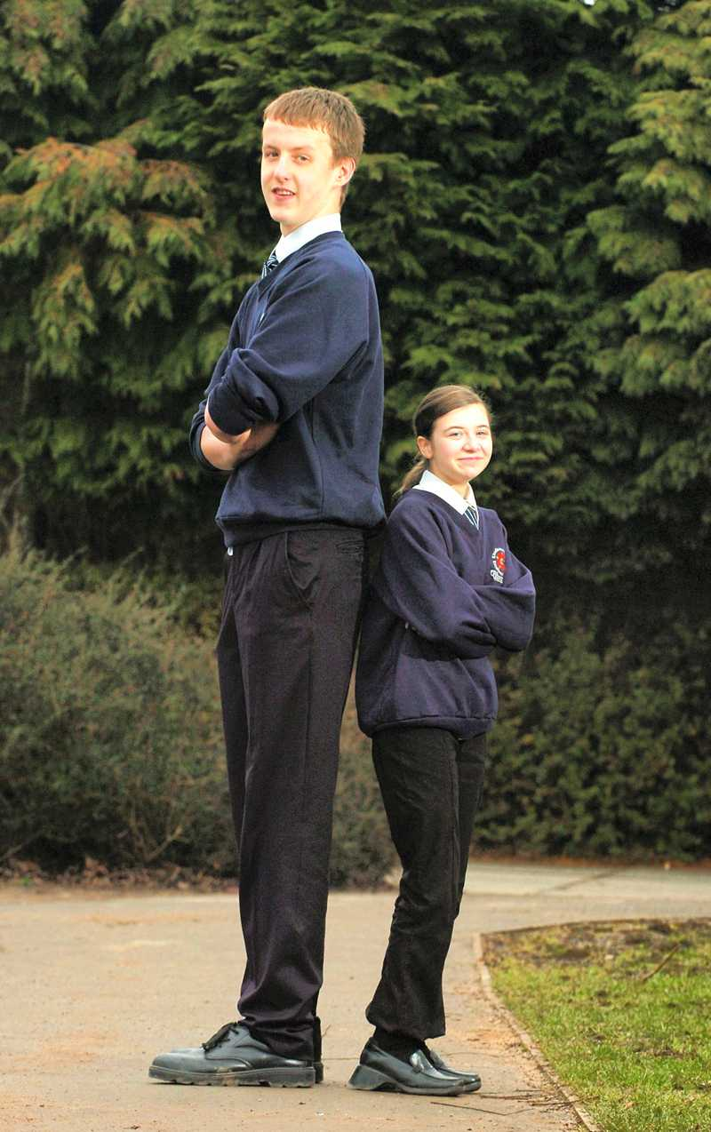 15-åriga Bradley Fisher och klasskamraten Zoe McDermott.