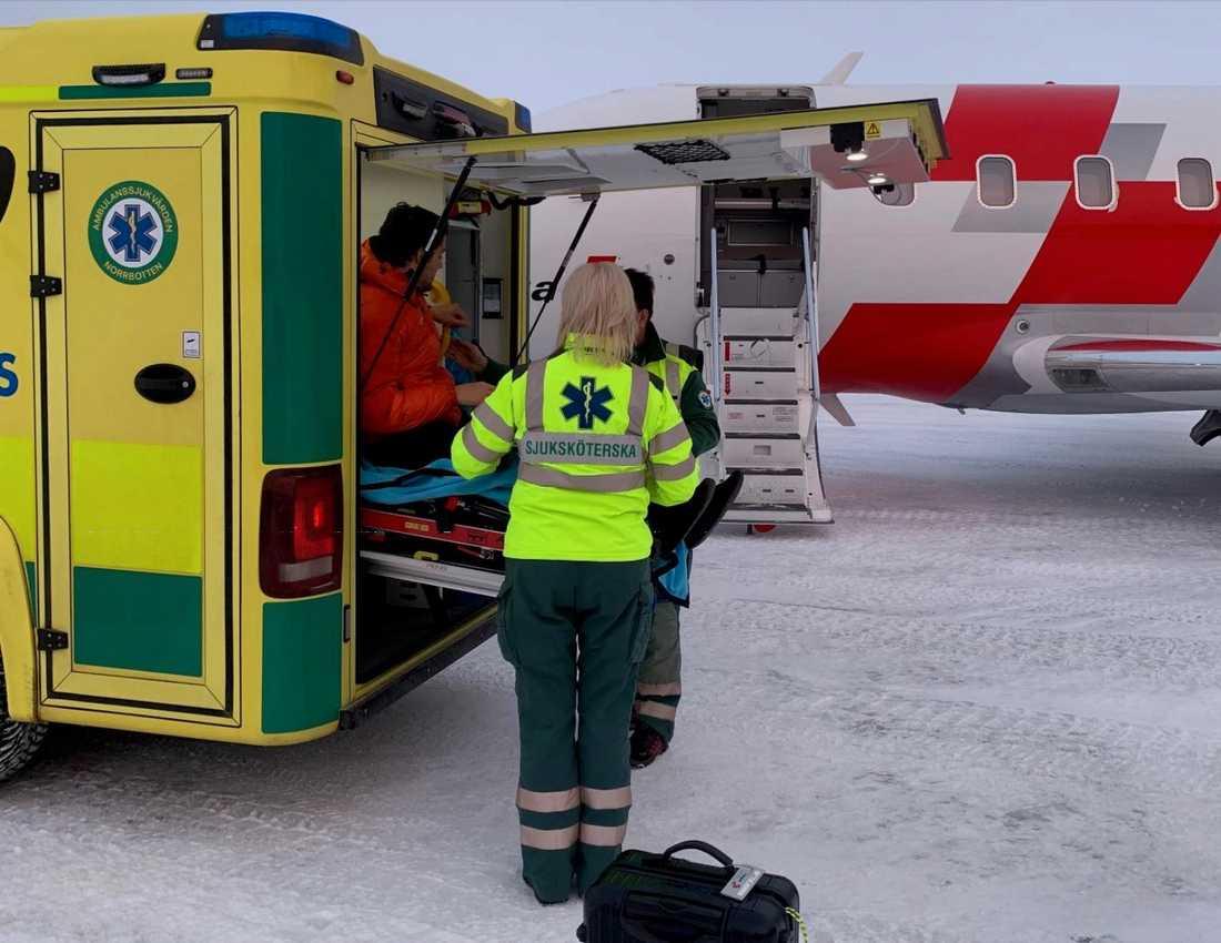 Efter att ha vårdats på Sunderby sjukhus kunde 23-åriga Ilja på onsdagen flyga hem till Schweiz igen.