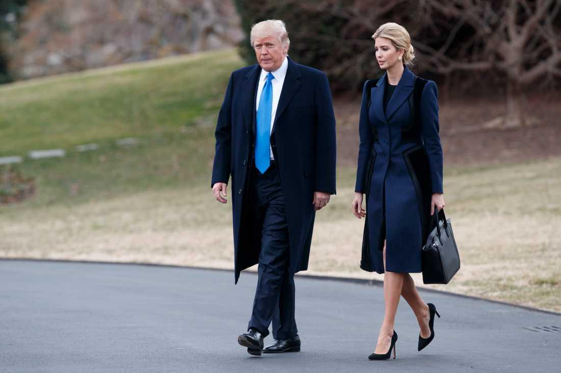 Donald och Ivanka Trump