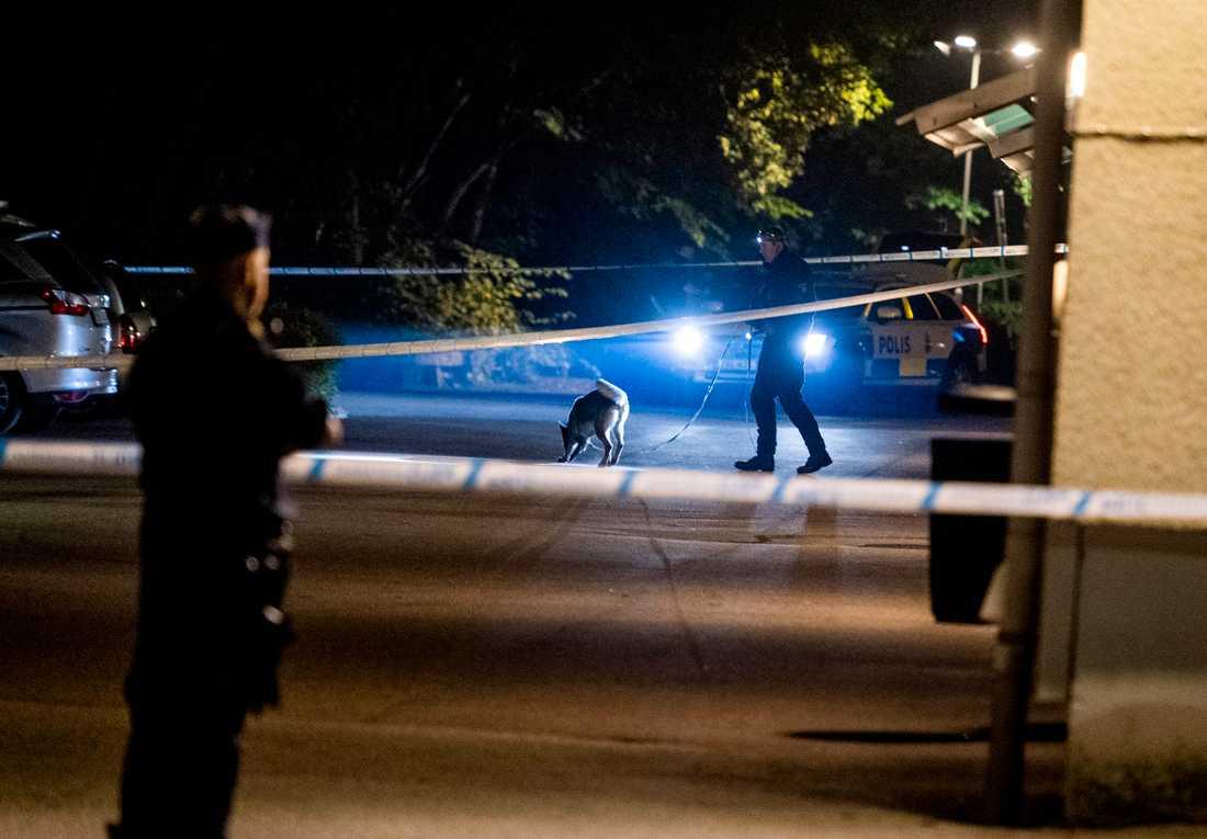 Polisen utreder skottlossning mot ett bostadshus i Borås.