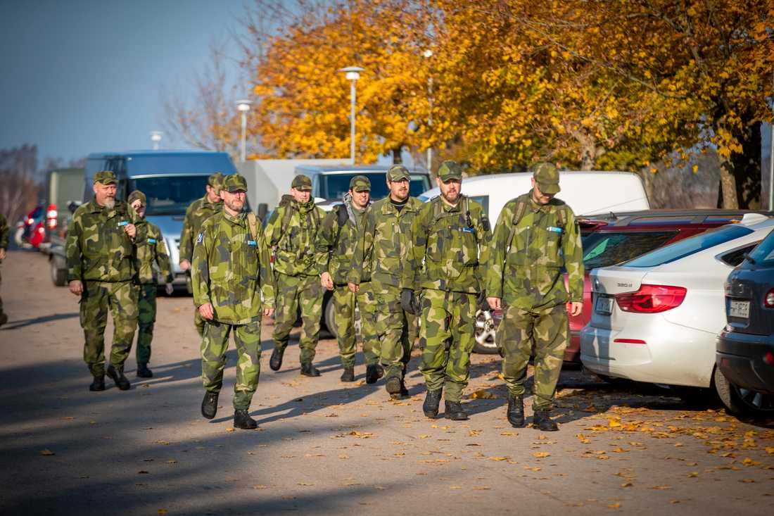 Militärer deltog i sökandet.