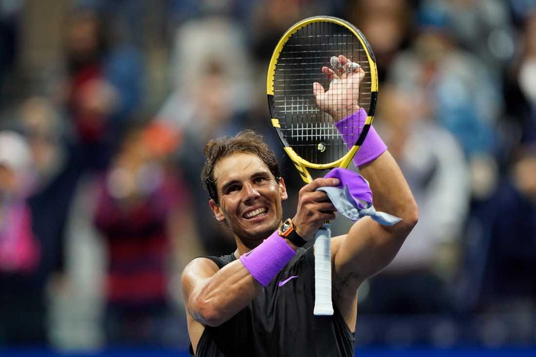 Rafael Nadal efter segern.
